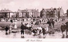 Saltcoats, North Ayrshire, Scotland | Beach at Saltcoats, 1915