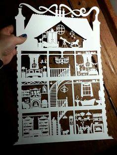 Paper Panda papercutting