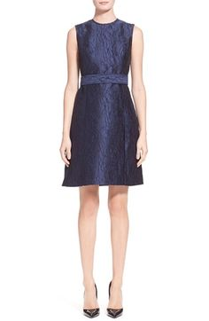 Jason Wu 'Silk Scribble' Jacquard A Line Dress available at #Nordstrom