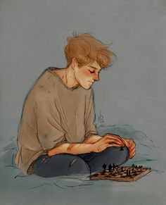Remus and chess by Natello's Art