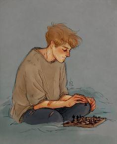 Remus and chess by Natello's Art