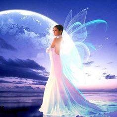 Diamond Painting of Angel w/ Wings & Rhinestone 30x50cm