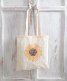 Sunflower tote bag - #baggingaround BAGGINGAROUND.ETSY.COM