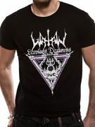 Officially licensed Watain t-shirt design printed on a 100% cotton short sleeved T-shirt.