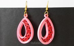 DIY Project Ideas: How To Make Paper Quilling Earrings.