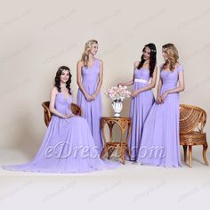 Mismatched bridesmaid dresses from eDressit! #bridesmaid_dress #wedding #lavender