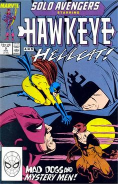 "Hawkeye's not flying solo: He's teaming with Shroud, the hero of ""Super-Villain Team-Up""! Also: Hellcat vs. her ex-husband - and because it's a comic book, don't expect ""Kramer vs. Kramer"" (or that movie where Kramer from ""Seinfeld"" impersonated a lawyer)!"