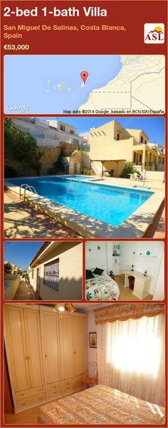 2-bed 1-bath Villa in San Miguel De Salinas, Costa Blanca, Spain ►€53,000 #PropertyForSaleInSpain