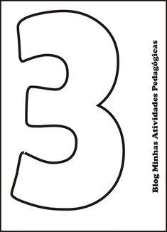 moldes de numeros para imprimir 6