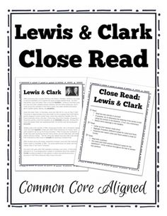 lewis and clark essay questions The lewis and clark expedition essay 1185 words | 5 pages however, it was unknown what was out there jefferson planned an exploratory expedition and called upon meriwether lewis to lead it.