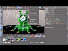 How To Rig the Character Alien Cinema 4d Tutorial, Rigs, Make It Simple, Tutorials, 3d, Youtube, Character, Wedges, Lettering