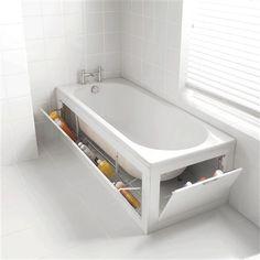 łazienkowe schowki pod wanną;