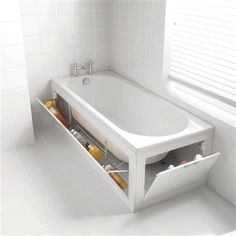 73 Practical Bathroom Storage Ideas | DigsDigs  where do you find a tub like this? build your own?