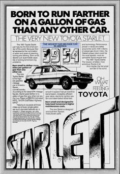 Classic Car News Pics And Videos From Around The World Classic Japanese Cars, Classic Cars, Toyota Starlet, Cool Old Cars, Rims For Cars, Born To Run, Japan Cars, Car Advertising, Jdm Cars
