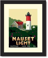 Nauset Light, Eastham, Cape Cod - Lighthouse art prints (Maine & Cape Cod) by Alan Claude.