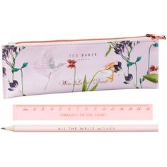 Ted Baker Oriental Bloom Stationary Set found on Polyvore featuring home, home decor, pink, pink home decor, floral home decor, zipper pouch, asian inspired home decor and asian home decor