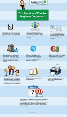 Tips For Moms Who Are Beginner Couponers Infographic