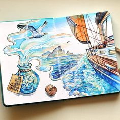 Fragrance of travel. Travel Journal Countries Plus Fantasy Drawings. By Anna Cheberiak. drawing Travel Journal C. Fragrance of travel. Travel Journal Countries Plus Fantasy Drawings. By Anna Cheberiak. drawing Travel Journal C. Fantasy Drawings, Cool Art Drawings, Doodle Drawings, Art Drawings Sketches, Doodle Art, Easy Drawings, Disney Drawings, Pencil Drawings, Tumblr Art Drawings