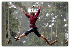 High Wire Adventure.  Swing by and catch some tree top action.  You are then attached to a safety line at all times via a climbing harness as you progress through around a mile of networked rope bridges and trapezes