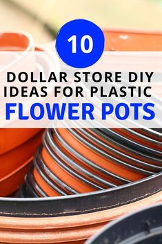 If you want to upgrade you plastic flower pots check these 10 makeover decorating pot crafts. Pick some up at the dollar store and start painting. Large Flower Pots, Plastic Flower Pots, Modern Plant Stand, Diy Plant Stand, 10 Dollar Store, Dollar Store Crafts, Organize Life, Diy Gutters, Easy Fall Wreaths