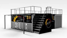 Solita's pop-up container restaurant. Think of using the roof of your shipping container for added pop-up restaurant space! PopUp Republic