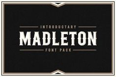 Madleton Font Pack by Rich Graphic on @creativemarket