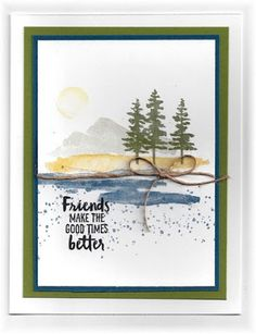 The card - love this new set from SU. A fun, watercolor look. Ended up with Hudson yesterday and...