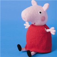 Knitted Peppa Pig pattern FREE toy instructions, download them here