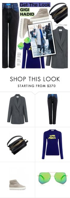 """Get the Look: Winter Style"" by ifchic ❤ liked on Polyvore featuring Carven, M.i.h Jeans, 10 Crosby Derek Lam, Bella Freud, Grey Ant, GetTheLook, CelebrityStyle, winterstyle, gigihadid and ifchic"