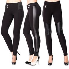 Leggings with faux-leather details is one of our top pick trends. Embrace this hot style and add a little edge to your outfits!