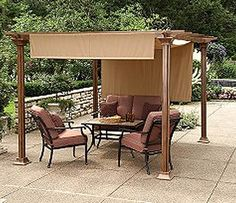 I need something for my back deck - fabric shade panels on a pergola