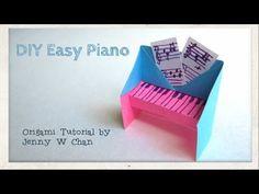 Cute, easy, origami piano. http://www.youtube.com/watch?v=jV3F9CEL5xI