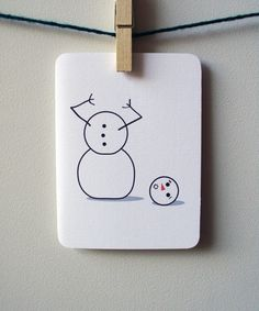 Snowman card!  Happy Holidays!