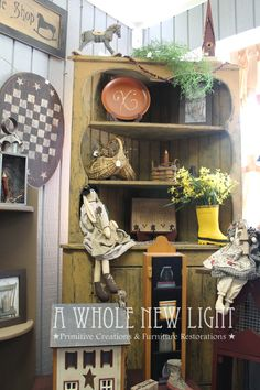 Primitive Plate Holder - A Whole New Light | Handmade Primitives ...