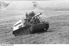 A Hummel navigates a hill in central-southern Russia (June 1943)