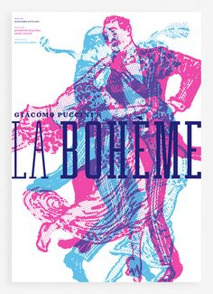 A self-defined senior project developing a system of visual identities for Giacomo Puccini's operas La Bohème, Tosca, and Madama Butterfly. The goal was to visualize these operas in a way that would begin to attract a new, younger audience, without alienating Puccini's already loyal following.