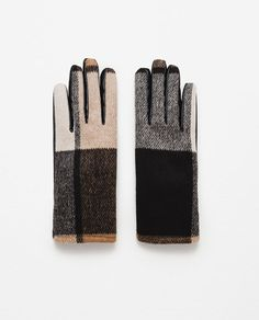 ZARA - WOMAN - CHECK GLOVES