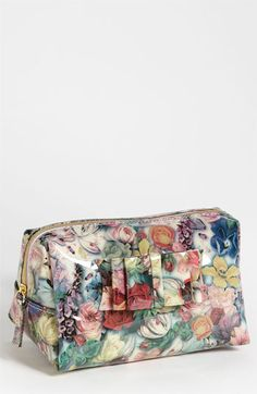 Ted Baker Small Rose Print Cosmetics Case.