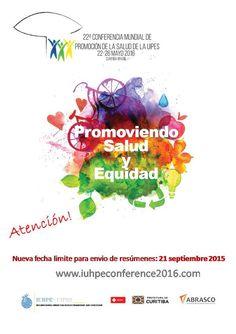 """Conferencia Mundial da Saúde da """"Unión Internacional de Promoción da Saúde e Educación para a Saúde"""" (UIPES) (2016)"""