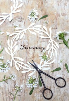 January January Wallpaper, Calendar Wallpaper, Diy Paper, Paper Crafts, Months In A Year, Winter Months, 12 Months, Wreath Crafts, Holidays And Events