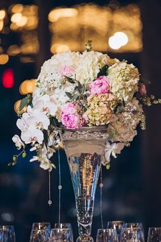 Love the colors and textures! View the full wedding here: http://thedailywedding.com/2016/03/23/chic-mountain-forest-wedding-jenny-sean/