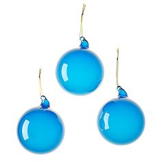 Glass Globes – Ultramarine (Medium, Set of 3) | Serena & Lily