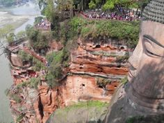 Leshan. You can climb down and up again and see the big statue of Buddha from alle sides