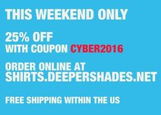 25% OFF your #DSOH shirt & hat order > http://ift.tt/2ephP93 .. use coupon code CYBER2016 at checkout #deepershadesofhouse #deephouse #shirts #tshirt #merchandise #discount #sale THIS WEEKEND ONLY !!!