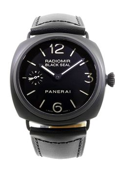 At 45 mm, Panerai's Limited Edition Radiomir Black Seal Manual has a ceramic case that makes a bold statement on any wrist.