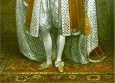 Turkotek Salon 1620. P. van Somer. James I of England. Detail. Royal Collections.