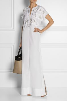 MAIYET Paneled cotton maxi dress £599.37 http://www.net-a-porter.com/products/504016