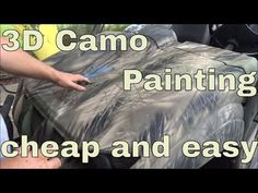 Painting the Jon Boat Camo Duck Hunting Blinds, Duck Hunting Boat, Duck Boat, Jon Boat, Deer Hunting, Camo Spray Paint, How To Paint Camo, Camo Stencil, Duck Blind