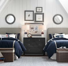 Guest toilet small bedroom decorating 45 guest bedroom ideas small twin bed guest room ideas sik interiors 25 dreamy guest bedroom ideas and bedroom dazzling guest decor idea Guest. Nautical Bedroom, Coastal Bedrooms, Guest Bedrooms, Seaside Bedroom, Nautical Theme, Nautical Lamps, Nautical Interior, Nautical Style, Home Bedroom