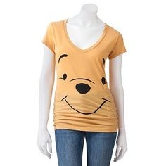 Winnie The Pooh Smiley Face shirt, for Nicole Nerd Outfits, Disney Outfits, Cool Outfits, Disney Clothes, Disney Nerd, Disney Stuff, Disney Maternity, Junior Tops, Pregnancy Shirts